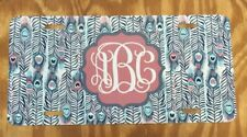 Monogram License Plate Feathers Personalized Car Tag New