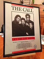 """Big 11X14 Framed The Call """"Let The Day Begin"""" Lp Album Cd 45 Single Promo Ad"""