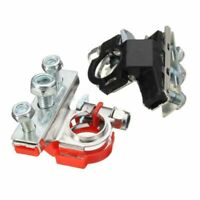 Pair Top-Post Battery Terminal Heavy Duty Car Vehicle Connector Cable Wire Clamp
