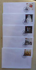 2015 NEW ZEALAND CATITOL STAMP SHOW SET OF 5x3 DAYS CANCELLED COVERS