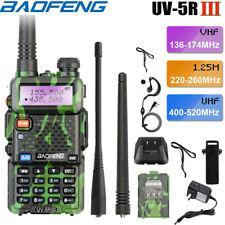Baofeng UV-5R III Tri-Band Walkie Talkie Long Range Ham Two Way Radio+Earpiece
