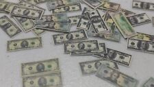 Money Dollhouse Miniatures U.S. Currency 90 total bills  1:12 1/12 scale