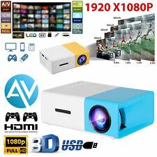 Full HD 1080P Mini Projector Home Movie Cinema Theater HDMI AV USB Micro SD Card