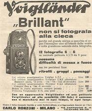 W4658 Voigtlander - Col BRILLANT non si fotografa alla cieca - Pubblicità 1934