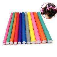 10Pcs/Set Hair Curler Magic Air Hair Roller Curling Sticks Foam Twist Flexi Rods
