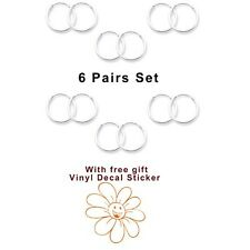 6pairs Set Super Mini Hoop Earrings with Gift Sterling Silver 925 USA Seller