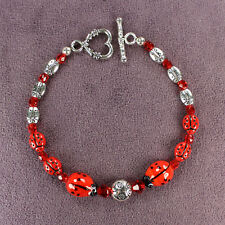 Ladybug Totem Bracelet Insect Animal Magick Symbol Good Luck Love Silver Pagan