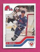 RARE 1983-84 NORDIQUES MICHEL GOULET  VACHON FOOD  CARD (INV# C5534)