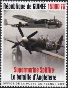 WWII 1940 Battle of Britain RAF SPITFIRE/DORNIER 217/London Stamp (2020 Guinea)
