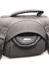 NIKON DSLR Padded Nylon Camera Bag With Shoulder Strap - Black