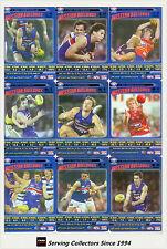 2006 AFL Teamcoach Tradinging Card Blue Platinum Team Set Western Bulldogs (9)