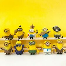1 Set of 10 Various Postures Minions Cake Ornament Decor Figures Figurines Toy