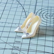 Custom 1# Milky High-heel Shoes Model For 1/6 Scale Female TBLeague Doll Figure