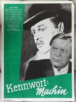 Filmplakat Kennwort: Machin (UFA) Paul Dahlke Hilde Weissner 1939