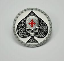 boucle de ceinture gothique Rockabilly Lucky Tête Mort Tatouage 288