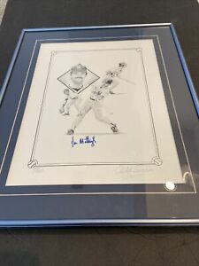 1985 DON MATTINGLY AUTOGRAPHED CHRISTOPHER PALUSO PRINT & ARTIST SIGNED #'d