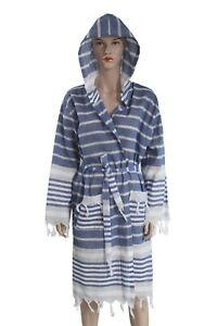 Hooded Bathrobe Pestemal Fabric 100% Turkish Cotton Kimono