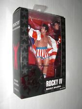 NECA ROCKY 40TH ANNIVERSARY ROCKY IV ROCKY BALBOA USA AMERICAN FLAG FIGURE MOC 4