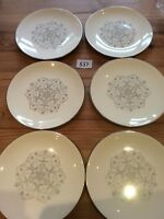"Set Of Six Royal Worcester Bridal Lace 8"" China Plates"
