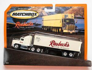 2003 Matchbox Super Rigs Ford Aeromax WHITE / RIESBECK'S FOOD MARKETS