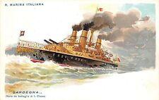 B94249 r marina italiana sardegna litho  italy postcard  ship bateaux