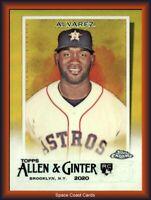 2020 Topps Allen & Ginter Chrome YORDAN ALVAREZ RC Gold Refractor /50 Astros