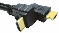 Straight HDMI 1.4 to Angled HDMI Lead Black (5M)