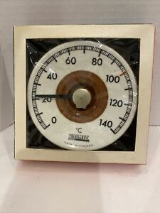 Vintage 60's Arabia Finland Valmet Sauna Thermometer Ceramic New In Box Celcius