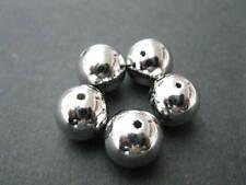 30 PERLINE ACRILICO TONDO 8mm argento colorati perle NUOVO 5203