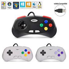 USB Wired Remote SNES Game Controller For Windows PC Mac RetroLink Raspberry Pi