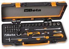 """Beta Set 12 Bussole con cricchetto 1/4"""" + 20 Inserti +7 accessori 900/C12M"""
