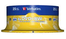 Verbatim DVD + RW 4 x Silver Matte 4.7 GB 25-Pack broche
