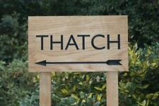 Oak House Sign With Post Carved Personalised Custom Engraved Wooden Plaque