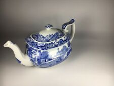 Vintage Spode Italian Blue Teapot C.1816 Made in England