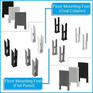 Floor Mounting Feet Support Legs Kits for Oval Flat Column Designer Radiators
