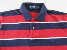 POLO RALPH LAUREN SS Wide Striped 100% Cotton Polo Shirt Size M
