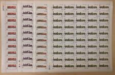 INDIA 719-22 - Train Stamps FULL SHEETS OF 50 SETS MNH CAT 580$