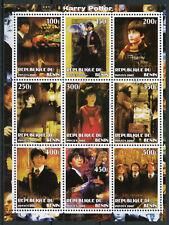 Harry Potter Stamps 2002 CTO Hagrid Owls Hermione Granger Ron Weasley 9v M/S