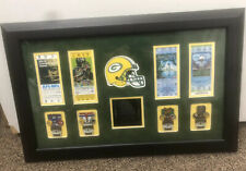 Super Bowl Win Display Case Green Bay Packers Pins & Tickets Stubs Reproduction