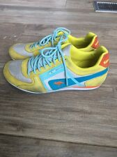 176. Women's Kangaroo runing Shoes Athletic Size Yellow Blue 7.5 Rare Vintage
