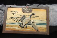 Vintage Gettelman Embossed Composite Milwaukee Beer Sign Display of Geese
