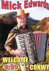 MICK EDWARDS - WELCOME TO CONWY- SONGS & SCENERY KEEPSAKE  DVD - FREE POST UK