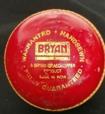 VINTAGE LEATHER CRICKET BALL RED CHAMPION BY BRYAN GRASSHOPPER PRODUCT HANDSEWN