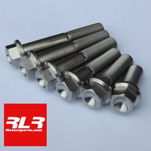 M10 Titanium Hex Head Flange Bolt  M10x50mm 1.25 pitch