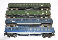 Fleischmann H0  vier ältere D-Zug-Wagen, dabei 2 x Touropa, Kunststoff, Bastelw