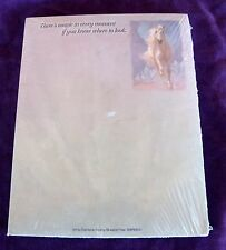 New LEANIN' TREE Small Note Pad White Galloping Horse Magic in Every Moment