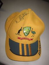 Mike Hussey (Australia)  Signed Australian official  ODI Cricket Cap - Adidas