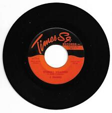 DOO WOP 45 THE 5 SHARKS STORMY WEATHER  ON TIMES SQUARE  VG+ 2ND PRESS 2:45