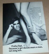 1974 print ad page - Pretty Feet sexy guy girl legs Vintage Advertising