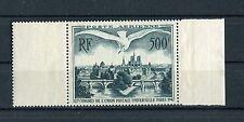 Francia / France 1947  Posta aerea veduta di Parigi bordo di foglio MNH